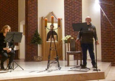 Mój przyjaciel Hiob – wiersze Anny Kamieńskiej recytuje Włodzimierz Galicki z Łodzi, na klarnecie akompaniuje Kinga Chmielewska, Szczecin