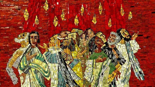 Święta Zesłania Ducha Świętego-nabożeństwo niedzielne w kościele