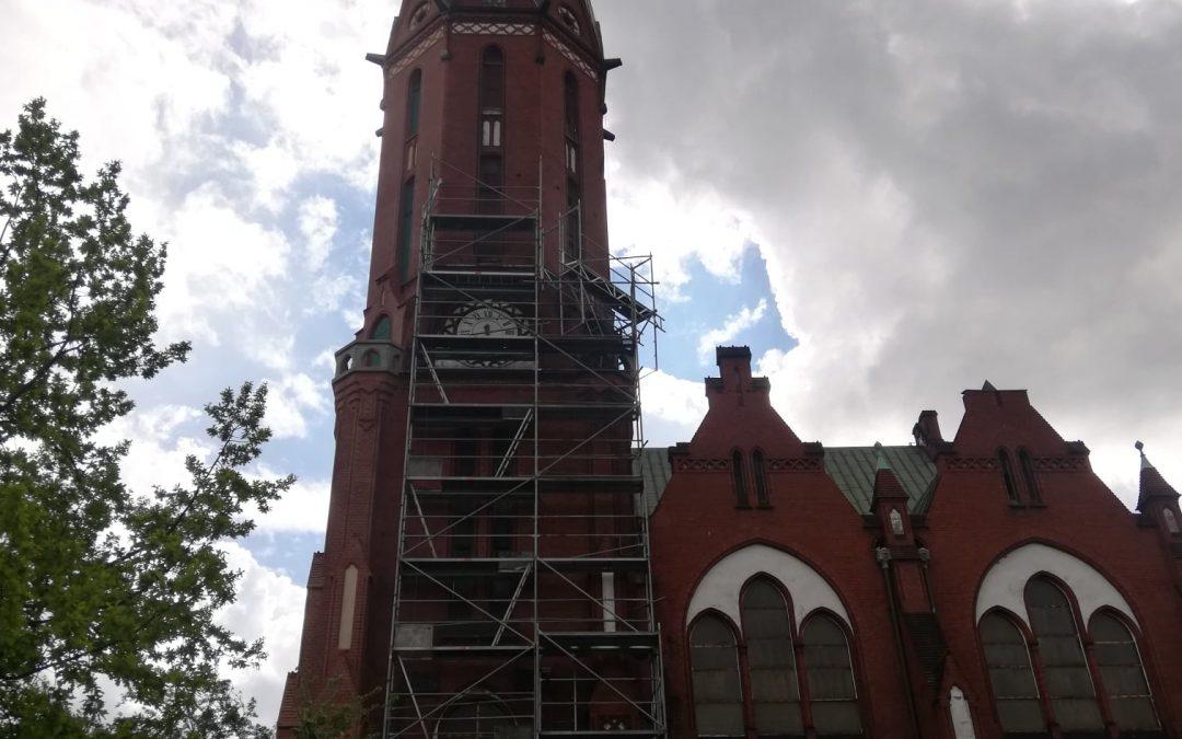 Zaczynamy 2. etap remontu wieży Kościoła Świętej Trójcy